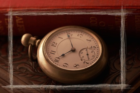 Pocket watches and book