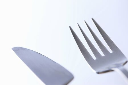 houseware: Knife and fork Stock Photo