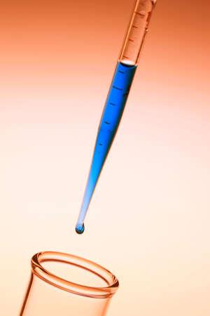 eyedropper: Test tubes with eyedropper
