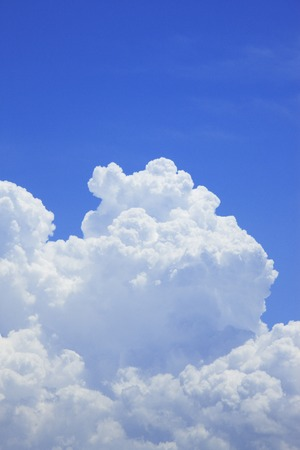 Towering cloud in summer