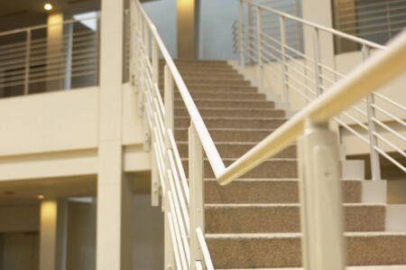 handrails: Handrails and stairs Stock Photo