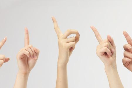 no1: Index finger Stock Photo