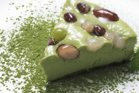 glycine: Matcha cake