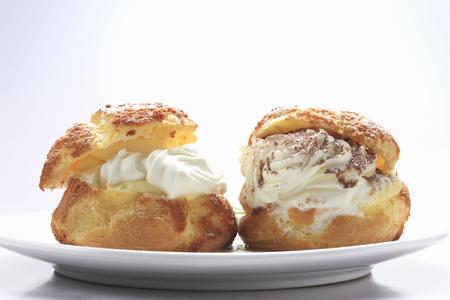 shu: Cream puffs Stock Photo