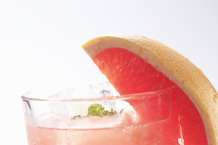 carbonic: Pink grapefruit soda Stock Photo
