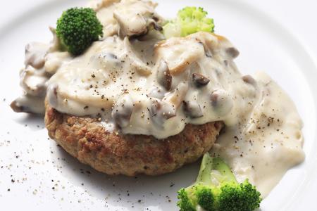 sauce dish: Hamburger steak