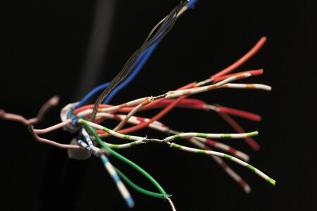 electrical materials: Electrical cord Stock Photo