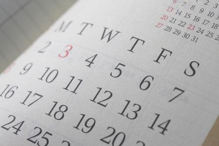 Schedule table 写真素材