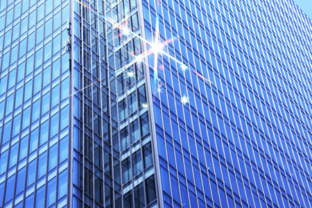 gleaming: High rise building window