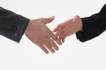 congruence: Shaking hands Stock Photo