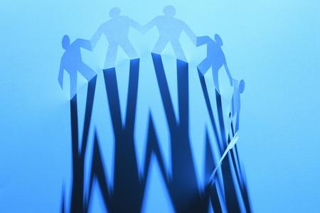 comrade: Collaboration image Stock Photo
