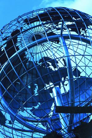 bluesky: World globe Stock Photo