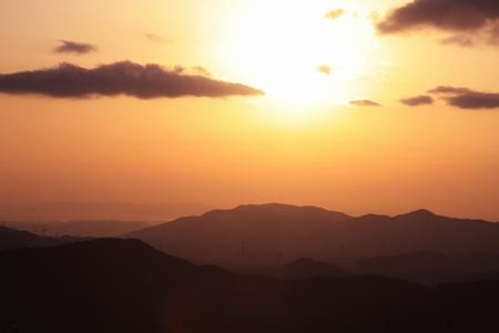 Landschap van Mt. Koya Stockfoto