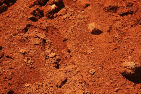 reddish: Reddish soil Stock Photo
