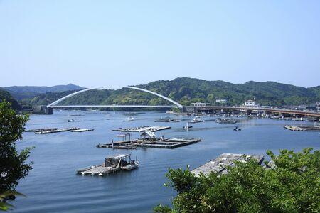 pu: Aso of Pu Bridge Stock Photo