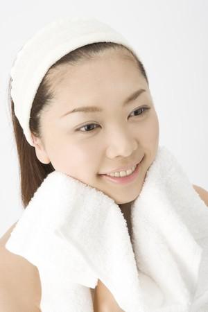 Visage de femme japonaise Banque d'images - 6842340