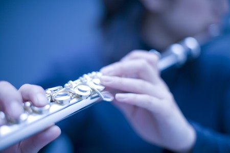 flute key: Flute Stock Photo