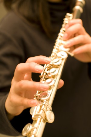 melodic: Flute Stock Photo