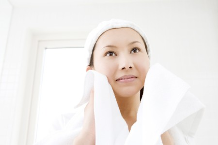 Washing face photo