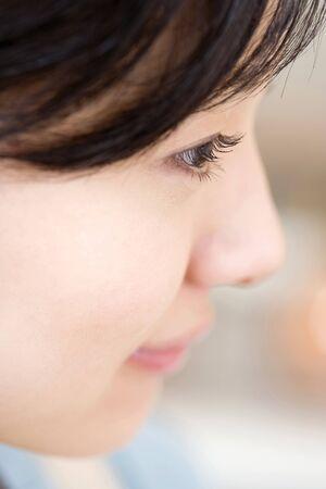 Profile of Japanese woman photo