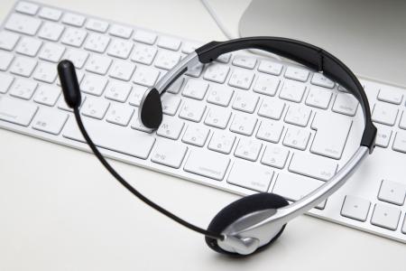 Auriculares con micrófono Foto de archivo