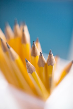 bundle of letters: Pencil Stock Photo