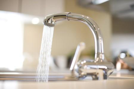 llave de agua: Grifo  Foto de archivo
