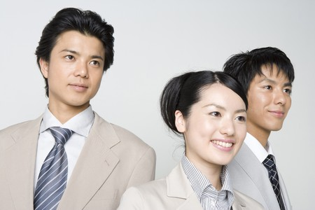 Japanese office workers Stock Photo