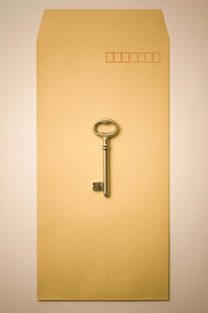 An old type key on the envelope Stock Photo - 6908881