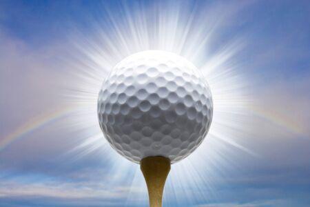 光る t シャツ アップ ゴルフ ボール 写真素材 - 39833289