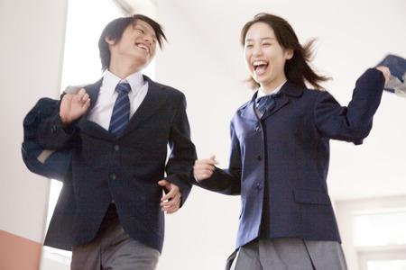 High school students walking down the hallway