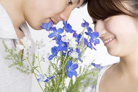 amantes: Flores y amante