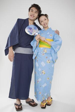 Yukata lover Stock Photo