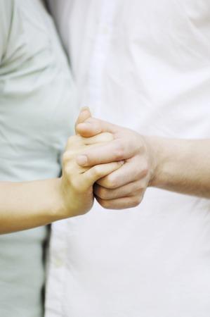 Hands shook 写真素材
