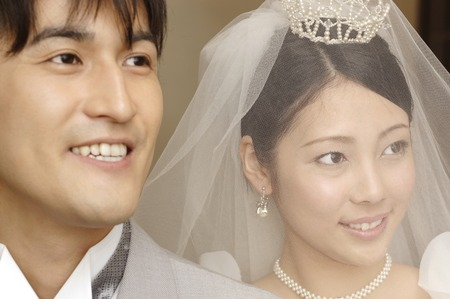 asian ancestry: Bride and groom