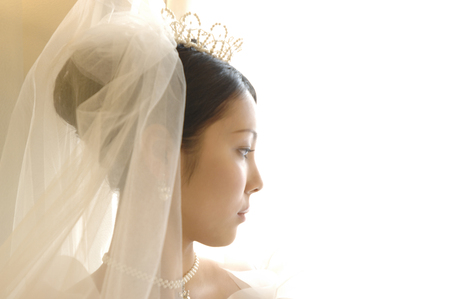 asian ancestry: Bride portrait