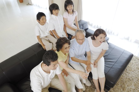 three generation: Three generation family Stock Photo