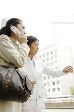 lady on phone: Business lady speaking on a mobile phone