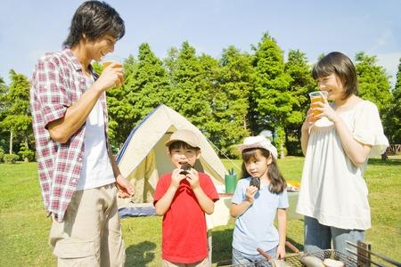 orient: Families enjoy the BBQ