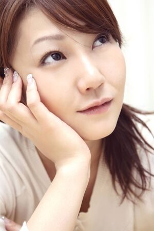 chin: Chin on women Stock Photo