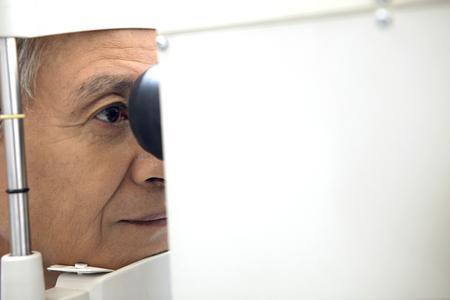 Men who undergo a test of eye