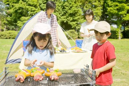 Prepare barbecue for family