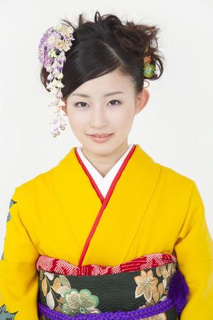 Womens kimono appearance of smile Zdjęcie Seryjne
