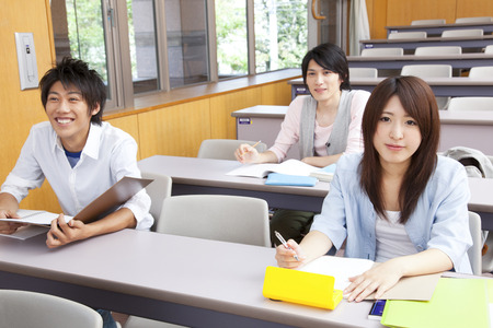 College students take courses photo