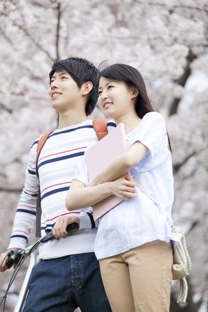 Cherry smile walking tree couple
