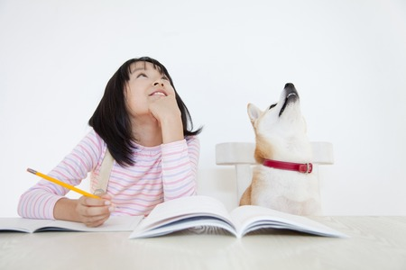 Shiba Inu and girls to consider the answer of problem
