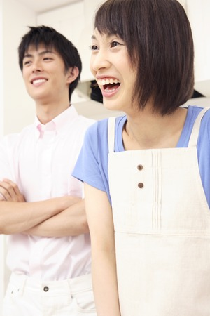 fold ones arms: Men Crossed smile of women and arm Stock Photo