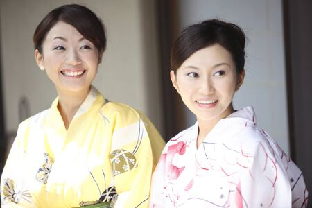 exhilaration: Yukata woman portrait