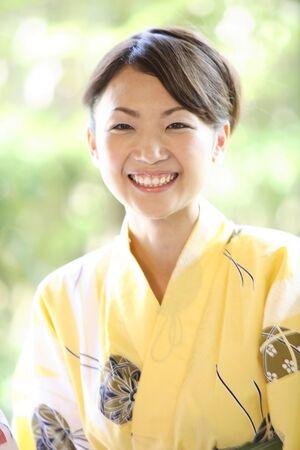 gratification: Yukata woman portrait