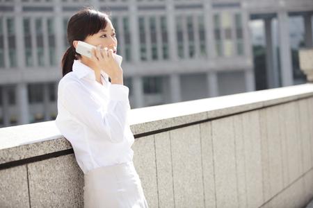 Career woman in phone